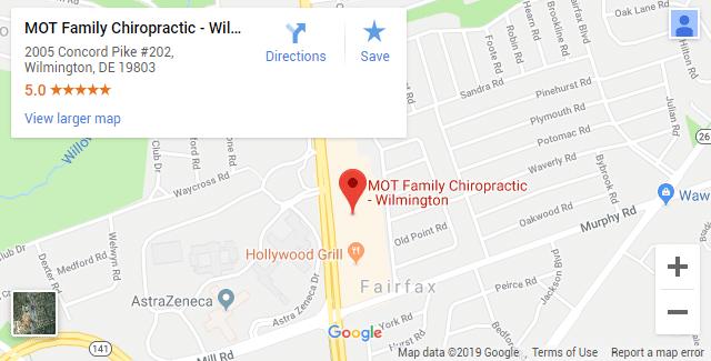 Wilmington DE Chiropractic Map